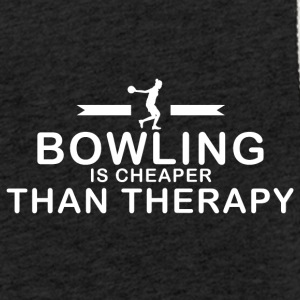 Bowling is cheaper than therapy - Leichtes Kapuzensweatshirt Unisex