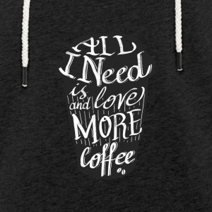 all_i_need_is_love: tasse de café américaine - Sweat-shirt à capuche léger unisexe