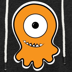 Uforskammet mono-eye jelly monster - Let sweatshirt med hætte, unisex