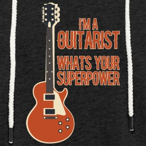 Awesome GUITARIST - Music - Light Unisex Sweatshirt Hoodie