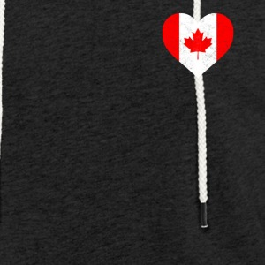 Canada Flag Shirt Heart - Canadian Shirt - Light Unisex Sweatshirt Hoodie
