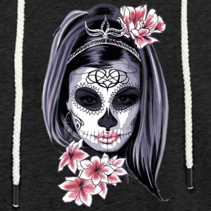 The flower girl with the mask - Light Unisex Sweatshirt Hoodie