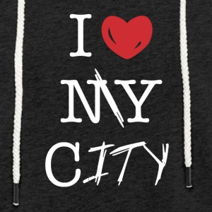 i love my city - Light Unisex Sweatshirt Hoodie