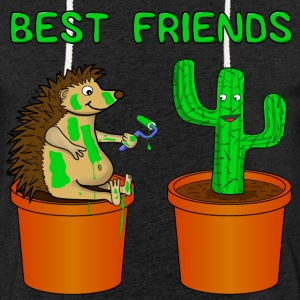 Hedgehog and Katus - Best friends - Light Unisex Sweatshirt Hoodie