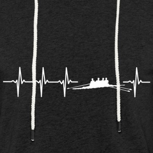 I love rowing (rower heartbeat) - Light Unisex Sweatshirt Hoodie