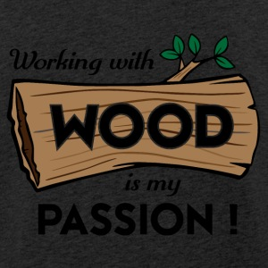 Passion-Design Wood - Leichtes Kapuzensweatshirt Unisex