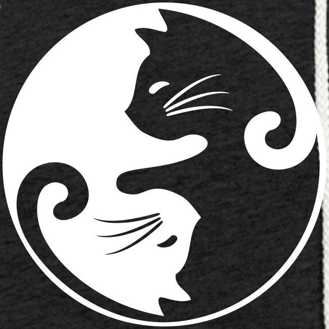 Vorschau: yin yang cat - Leichtes Kapuzensweatshirt Unisex