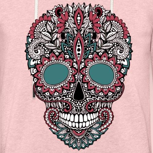 Tête fleurie - Sweat-shirt à capuche léger unisexe