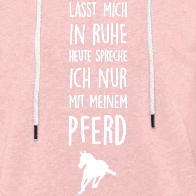 Vorschau: Lasst mich in Ruhe Pferd - Leichtes Kapuzensweatshirt Unisex