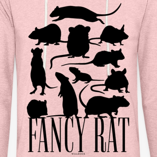 Fancy Rat Black - Kevyt unisex-huppari