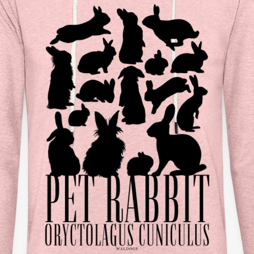 Pet Rabbit Black - Kevyt unisex-huppari