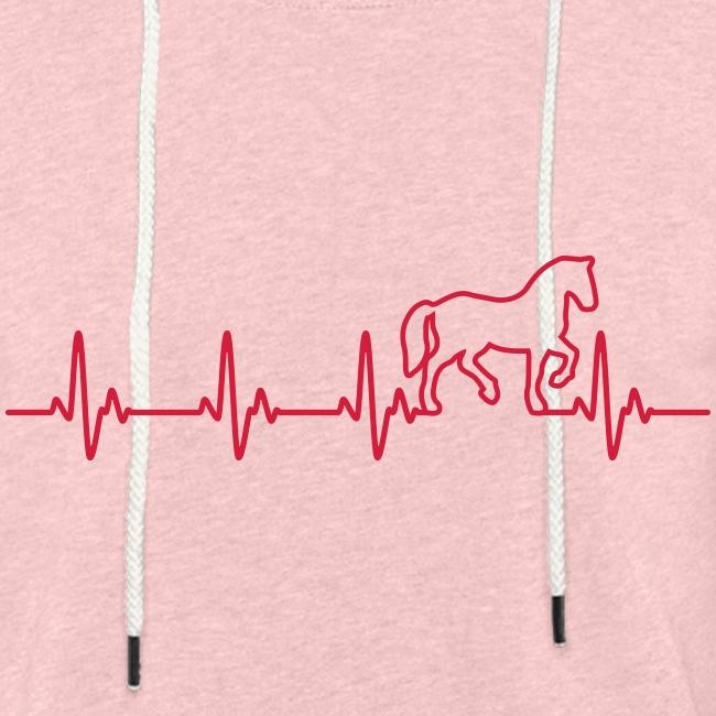 Vorschau: Horse Heartbeat - Leichtes Kapuzensweatshirt Unisex