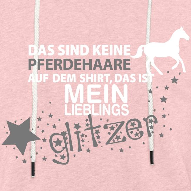 Vorschau: Glitzer Pferd - Leichtes Kapuzensweatshirt Unisex