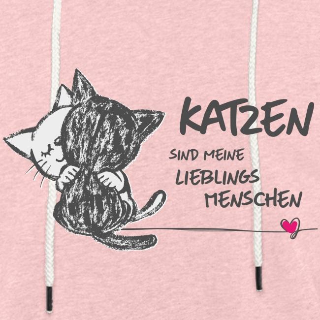 Vorschau: Katzen Lieblingsmenschen - Leichtes Kapuzensweatshirt Unisex