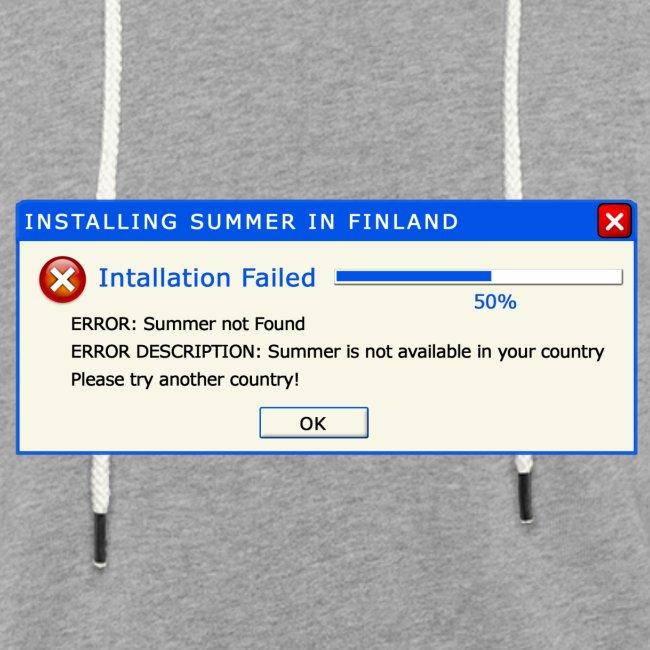 Summer Error Message