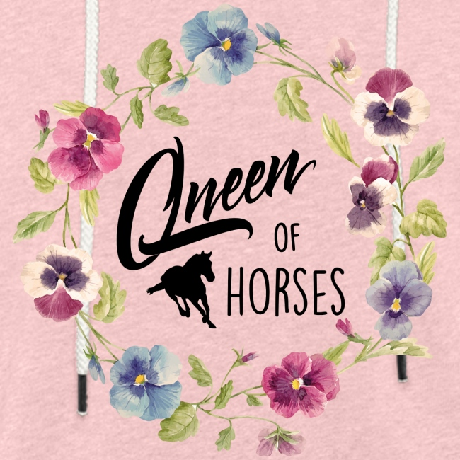 Vorschau: queen of horses - Leichtes Kapuzensweatshirt Unisex