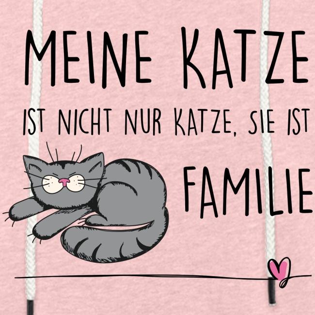 Vorschau: Meine Katze ist Familie - Leichtes Kapuzensweatshirt Unisex