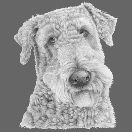 airedale terrier - Let sweatshirt med hætte, unisex