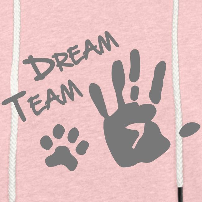 Vorschau: Dream Team Hand Hundpfote - Leichtes Kapuzensweatshirt Unisex
