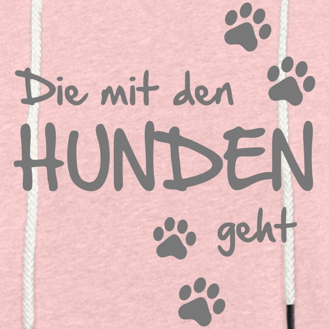 Vorschau: Die mit den Hunden geht - Leichtes Kapuzensweatshirt Unisex