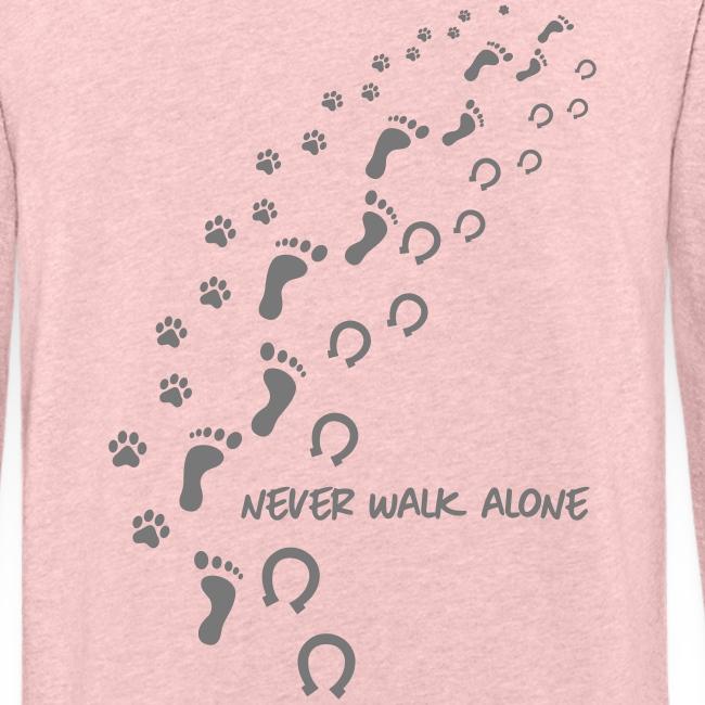 Vorschau: never walk alone hund pferd - Leichtes Kapuzensweatshirt Unisex
