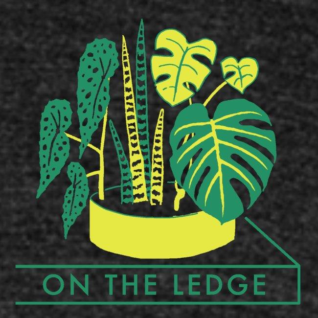 On The Ledge green logo print