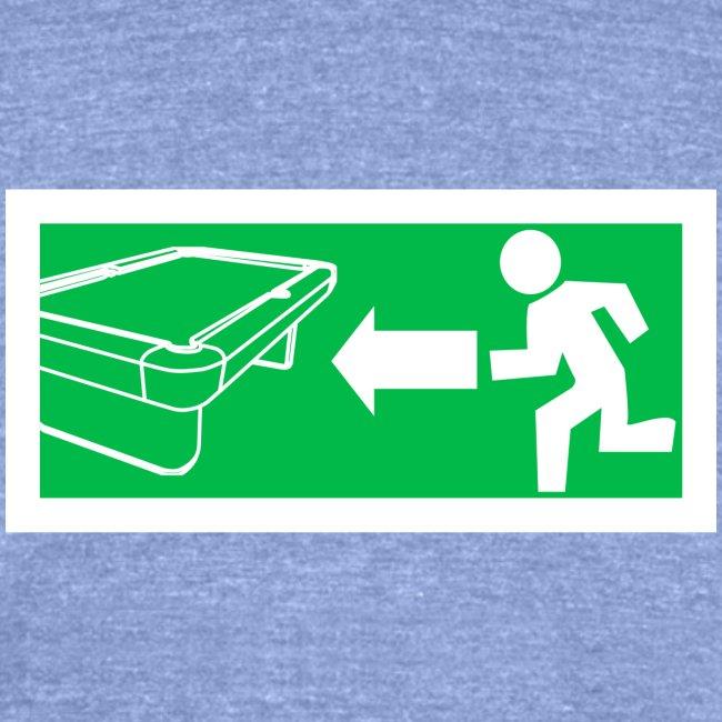 "Billard Shirt ""Notausgang Billard"" - Pool Billard"