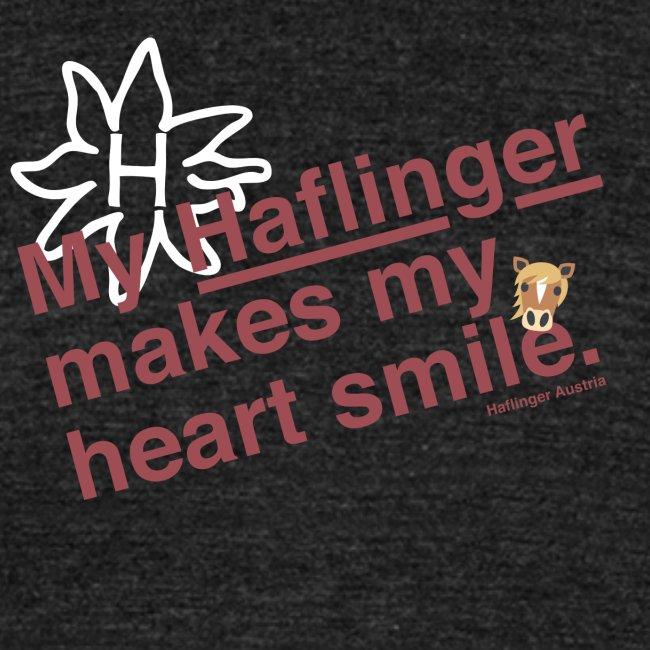 Haflinger Heart Smile - Rosa