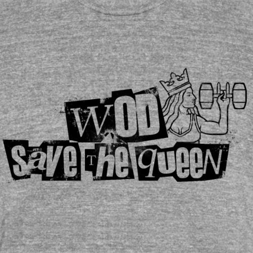 wod save the queen - T-shirt chiné Bella + Canvas Unisexe