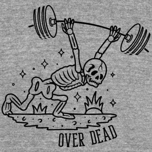 OVER DEAD - T-shirt chiné Bella + Canvas Unisexe