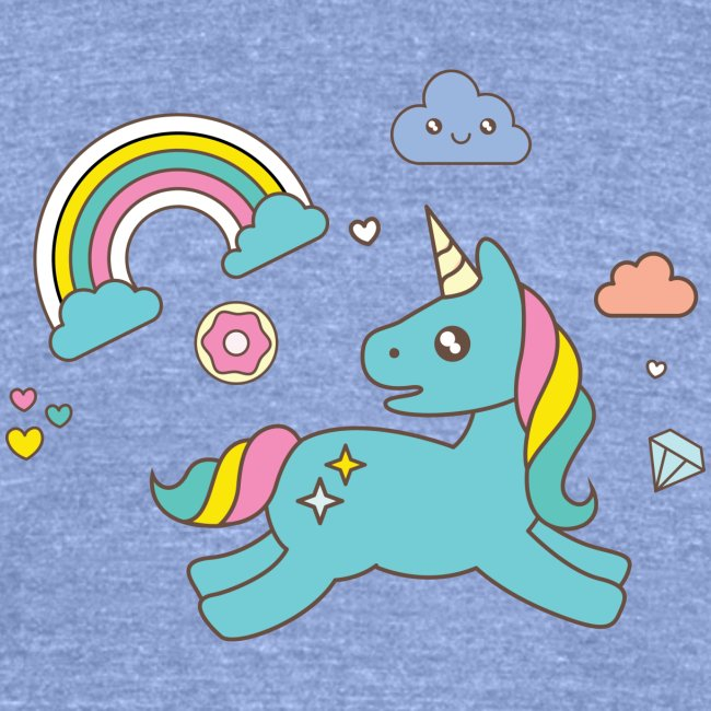 colored unicorn
