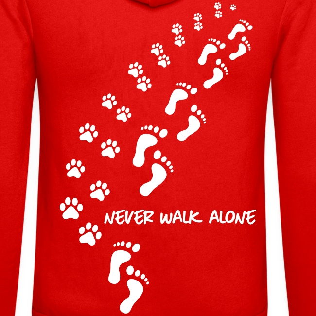 never walk alone dog - Unisex Kapuzenjacke von Bella + Canvas