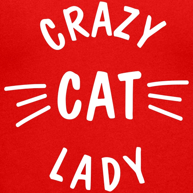 Crazy Cat Lady meow - Unisex Kapuzenjacke von Bella + Canvas