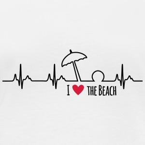 I love the beach - Frauen Bio-Langarmshirt