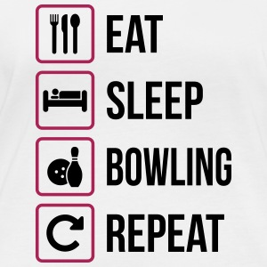 Eat Sleep Bowling Repeat - Women's Organic Longsleeve