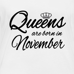 Queens Born November Princess Birthday - Women's Organic Longsleeve