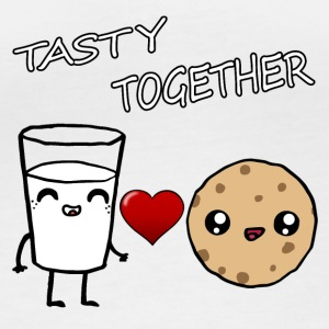 Milk and Cookie Tasty Together Kawaii - Frauen Bio-Langarmshirt