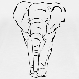 Elephant - outline - Women's Organic Longsleeve