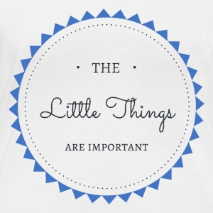 The little Things are important - Frauen Bio-Langarmshirt