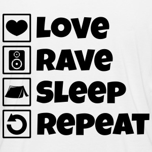 Love rave sleep repeat festival - Women's Organic Longsleeve