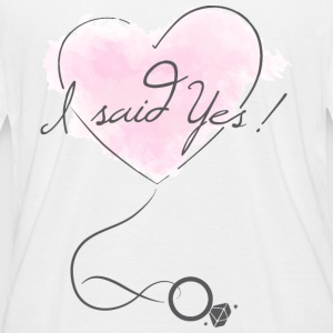 """I said Yes!"" - Engagement - Bride to be - Women's Organic Longsleeve"
