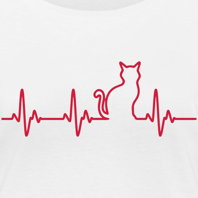 Vorschau: Ein Herz für Katzen - Frauen Bio-Langarmshirt von Stanley & Stella