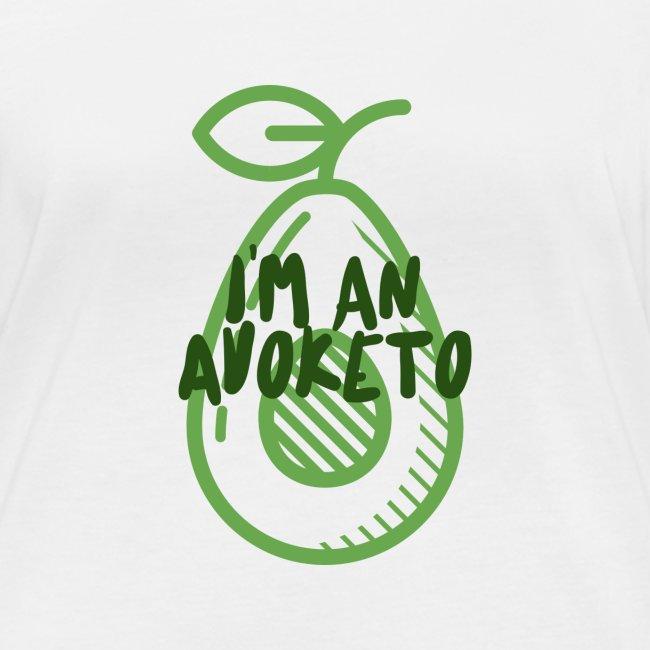 Witziges Keto Shirt Frauen Männer Ketarier Avocado