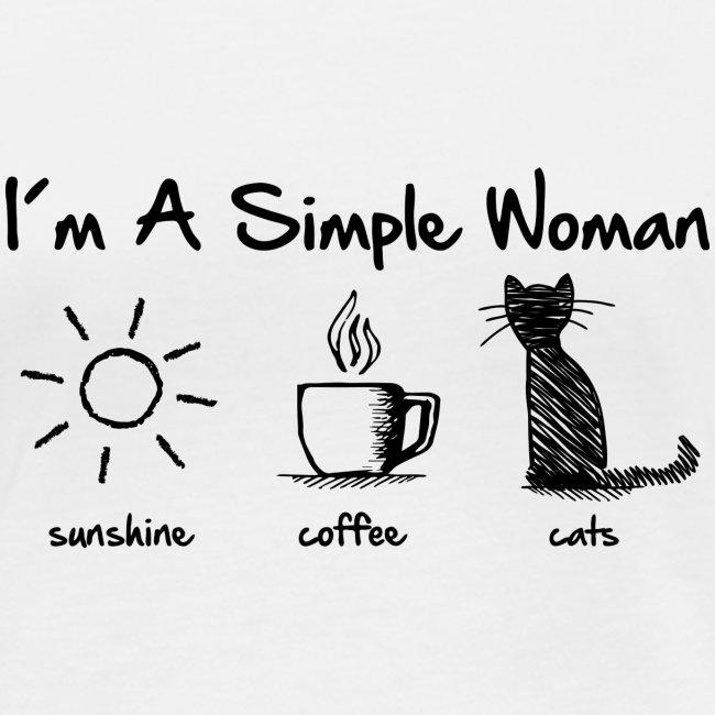 Vorschau: simple woman cats - Frauen Bio-Langarmshirt von Stanley & Stella