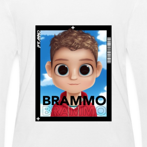 Brammo Cartoon wit - Vrouwen bio shirt met lange mouwen van Stanley & Stella