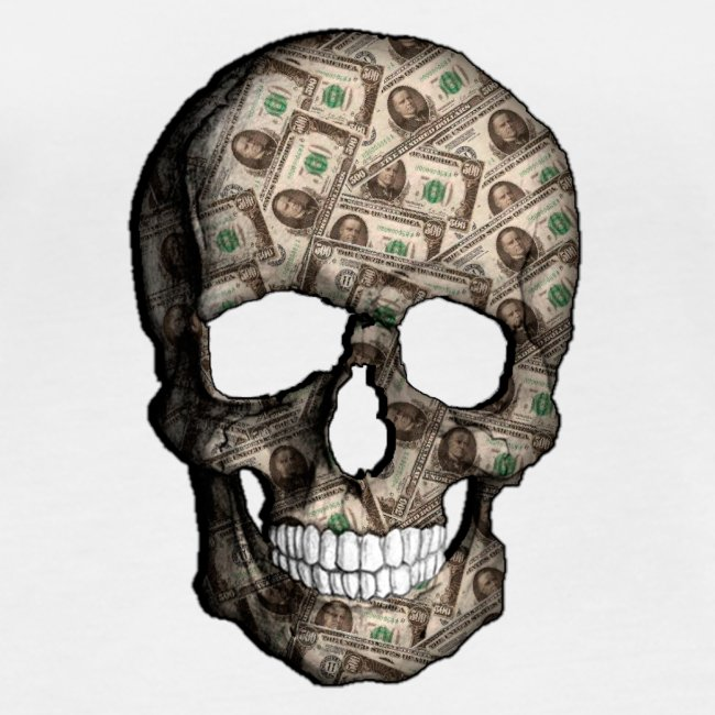 Skull Money Black