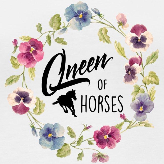 Vorschau: queen of horses - Frauen Bio-Langarmshirt von Stanley & Stella