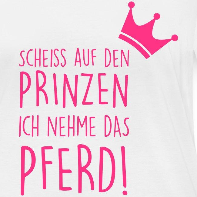 Vorschau: Prinz Pferd - Frauen Bio-Langarmshirt von Stanley & Stella
