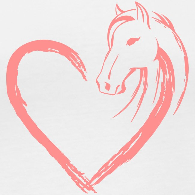Vorschau: Pferde Herz - Frauen Bio-Langarmshirt von Stanley & Stella