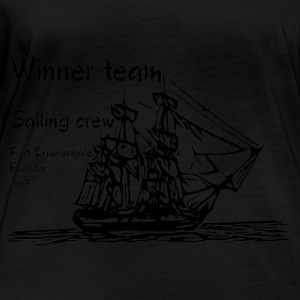 Coasts collection black sailing - Women's Organic Longsleeve